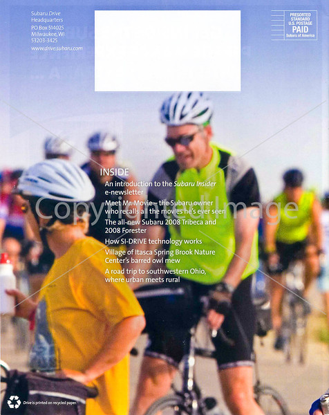 Subaru's Drive Magazine - Mass Bike Rides - back cover