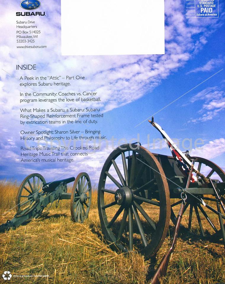Subaru's Drive Magazine - Civil War Campaign Trails - Back cover