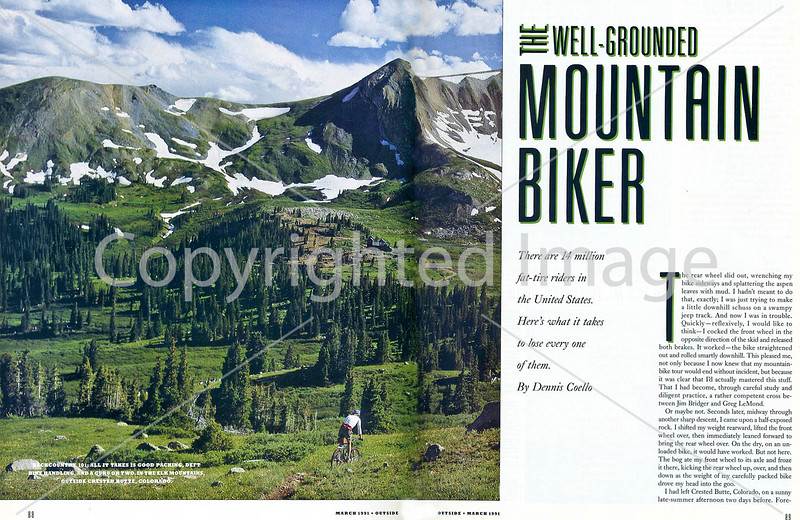 Outside Magazine - The Mountain Biker - Pages 1 & 2