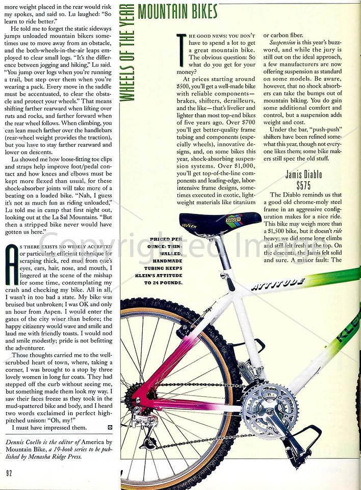 Outside Magazine - The Mountain Biker - Page 5