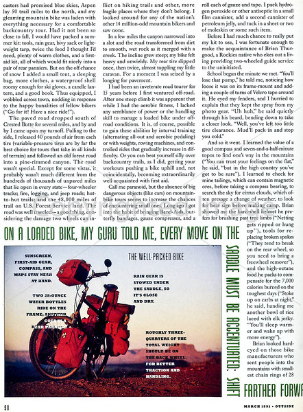 Outside Magazine - The Mountain Biker - Page 3
