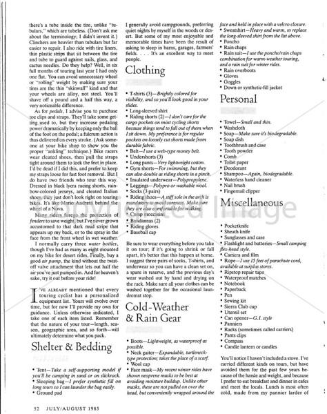 Sierra Magazine - Bike Touring - Page 5