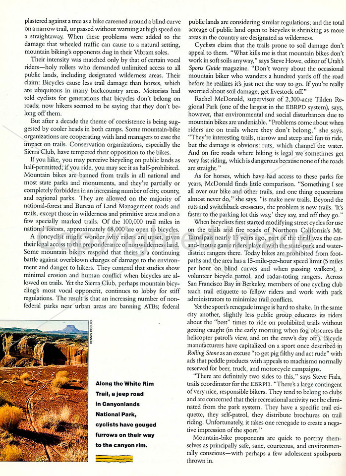 Sierra Magazine - Vicious Cycles - Page 3