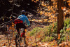 Mountain biker on approach to Bald Pate Mountain in Maine, near New Hampshire border & town of Naples - 72 dpi  - -4