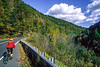 Cyclist on Mohawk Trail (Hwy 2) in Massachusetts' Berkshire Mts, east of North Adams - 2 - 72 ppi