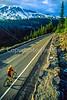 Cyclist in Mount Rainier Nat'l Park, Washington - 1-2 - 72 ppi