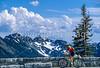 Cyclist in Mount Rainier Nat'l Park, Washington - 13-2 - 72 ppi