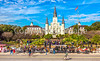 Cyclists at Jackson Square in New Orleans' French Quarter - C3-0358 - 72 ppi