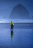 Lewis & Clark - Cyclist at Cannon Beach on Oregon coast - 9 - 72 ppi-2