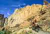 Mountain biker on trail at Smith Rock State Park, Oregon - 18 - 72 ppi