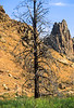 Mountain biker on trail at Smith Rock State Park, Oregon - 10 - 72 ppi