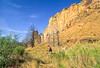 Mountain biker on trail at Smith Rock State Park, Oregon - 20 - 72 ppi