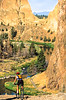 Mountain biker on trail at Smith Rock State Park, Oregon - 5 - 72 ppi