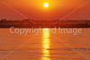 Sunset over Mississippi River from Memphis, Tennessee, waterfront - 72 ppi