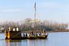 Lewis & Clark keelboat nearing Camp Dubois, Illinois  - 72 ppi