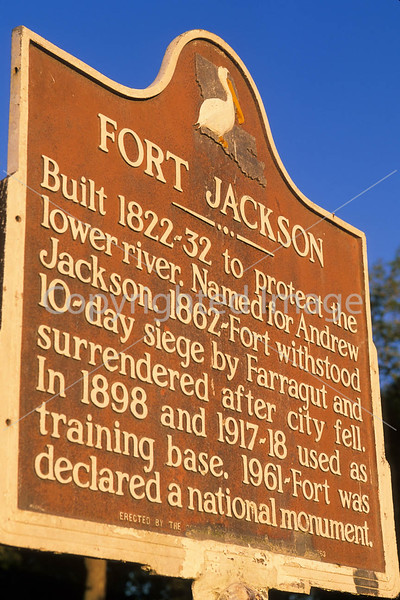 Historic Fort Jackson on Mississippi River 70 miles south of New Orleans, LA - 1 - 72 ppi