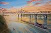 Vicksburg, MS, flood wall mural - River Sunset - 72 ppi