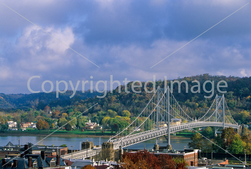 Simon Kenton Suspension Bridge over Ohio R  at Maysville, KY - 1 - 300 ppi