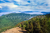 Cyclists on Mount Constitution in San Juan Islands near Seattle-2 - 72 ppi