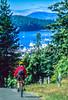 Biker in San Juan Islands near Seattle, heading to Roche Harbor - 1-2 - 72 ppi