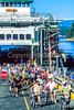 Cyclists leaving ferry at Friday Harbor in WA's San Juan Island - 2-2 - 72 ppi
