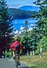 Biker in San Juan Islands near Seattle, heading to Roche Harbor - 2 - 72 ppi