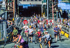 Cyclists leaving ferry at Friday Harbor in WA's San Juan Island - 1-2 - 72 ppi