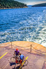 Bikers on ferry from Seattle to San Juan Islands - 1-2 - 72 ppi