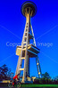 Cyclist at Seattle's Space Needle - 3-2 - 72 ppi