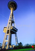 Cyclist at Seattle's Space Needle - 5-2 - 72 ppi