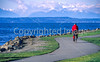 Cyclist on Seattle bike trail - 4-2 - 72 ppi