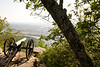 Cannon overlooking Moccasin Bend of Tennessee River on Lookout Mountain Battlefield high above Chattanooga, Tennessee - 4
