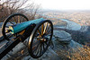 Cannon on Lookout Mountain above Moccasin Bend of Tennessee River; Chattanooga, TN, in distance - 2