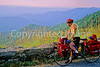 Cyclist near Hughes River Gap on Skyline Drive in Shenandoah National Park in Virginia - 3 - 72 dpi