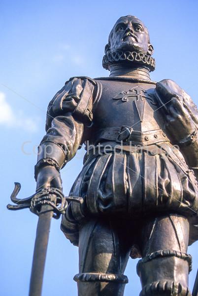 Statue of Don Pedro Menendez de Aviles, founder of St  Augustine, Florida, in 1565 - 1 - 72 ppi
