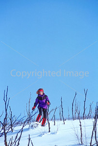 SN ut wstc 21 - ORps - Snowshoer in Utah's Wasatch Mountains near Salt Lake City, Utah - 72 ppi