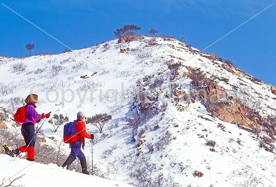 SN ut wstc 40 - ORps - Snowshoers in Utah's Wasatch Mountains near Salt Lake City, Utah - 72 ppi