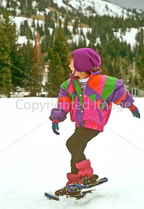SN ut wstc 16 - ORps - Young snowshoer in Utah's Wasatch Mountains, up Big Cottonwood Canyon near Salt Lake City - 72 ppi