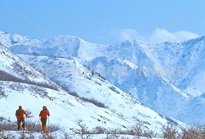 SN ut wstc 41 - ORps - Snowshoers in Utah's Wasatch Mountains near Salt Lake City, Utah - 72 ppi