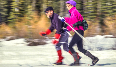 Cross-country skiers in Big Cottonwood Cyn near Salt Lake City, UT - 1 - 72 ppi-2