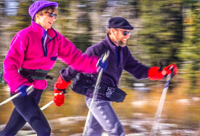 Cross-country skiers in Big Cottonwood Cyn near Salt Lake City, UT - 2-2 - 72 ppi