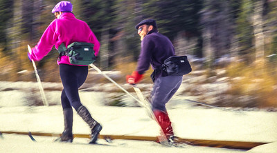 Cross-country skiers in Big Cottonwood Cyn near Salt Lake City, UT - 3 - 72 ppi-2