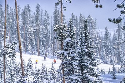 Skier & snowboarders at Big Sky, Montana - 3 - 72 ppi