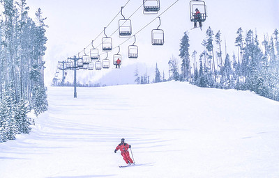 Skier(s) at Big Sky, Montana - 1 - 72 ppi