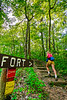 Hiker on way to 1864 battleground at Fort Pillow State Historic Area in Tennessee - 300 dpi - C2 -  -0244
