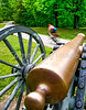 Thin-tire cyclist at Fort Pillow State Historic Area in Tennessee - C1--0074 - 72 ppi-2