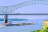 Downtown Memphis, Tennessee; Hernando De Soto Bridge across Mississippi River - 7 - 72 ppi