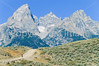 Mountain biker on south end of River Road along Snake River in Wyoming's Grand Teton NP - 11 - 72 ppi