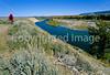 Biker on River Road along Snake River in Grand Teton Nat'l Park - 31 - 72 ppi