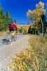 Biker on Gros Ventre Road Teton Nat'l Forest near Grand Teton Nat'l Park - rename 4 - 72 ppi